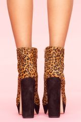 Nasty Gal Jemma Platform Boot  Leopard in Animal (leopard) - Lyst