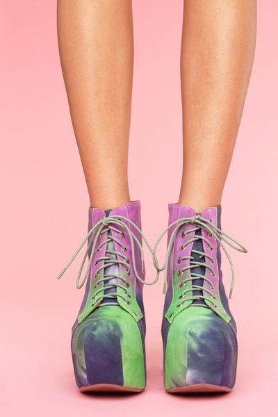 Nasty Gal Lita Platform Boot - Tie Dye in Purple | Lyst