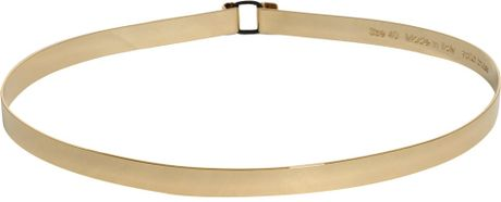 Amen Gold Metal Belt in Gold - Lyst