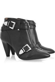 Belle By Sigerson Morrison Buckled Leather Ankle Boots - Lyst
