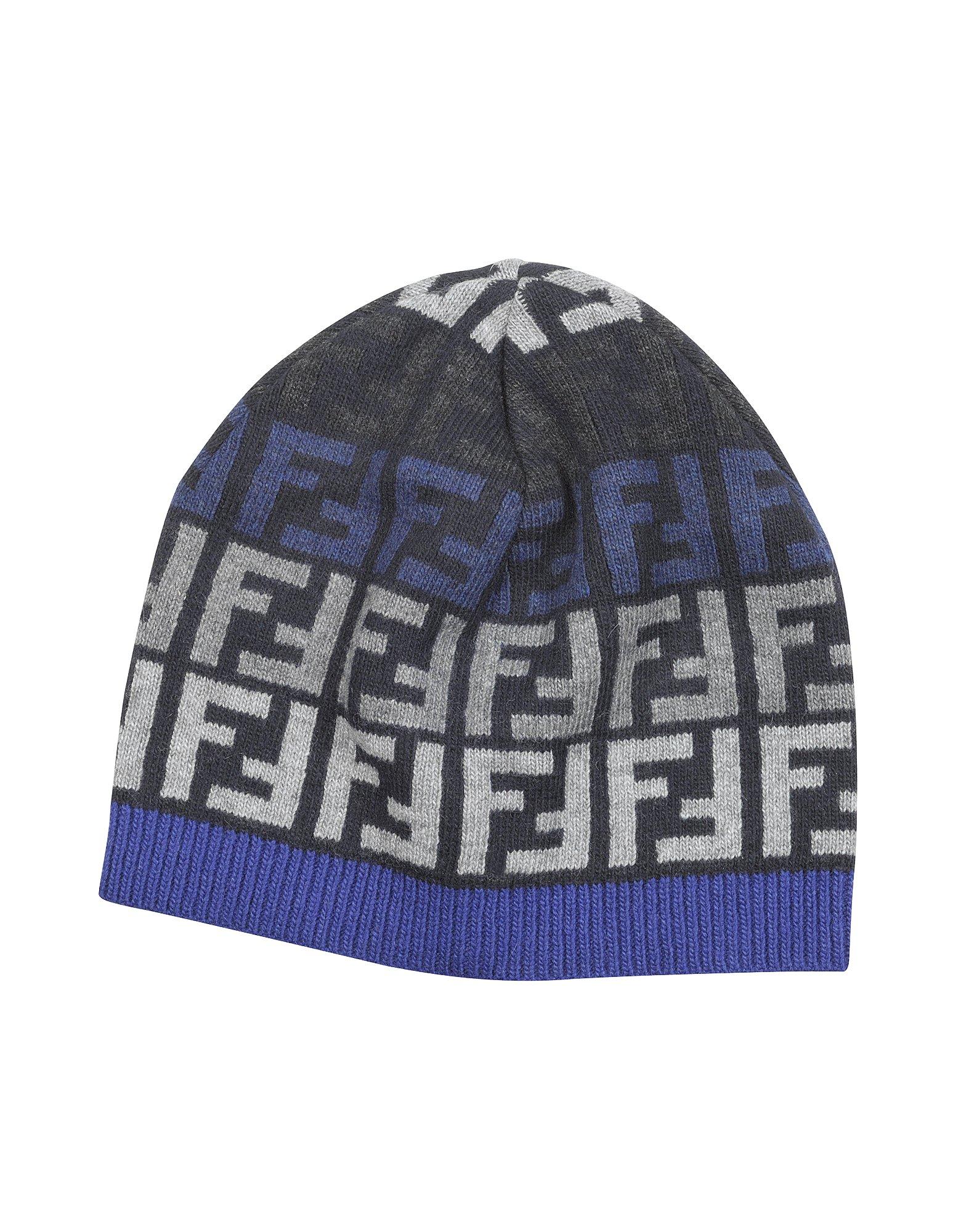 cf509a33b6f Lyst - Fendi Zucca Logo Skull Cap in Blue