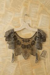 Free People Vintage Beaded Tulle Collar - Lyst