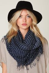 Free People Polka Dot Gauze Scarf - Lyst