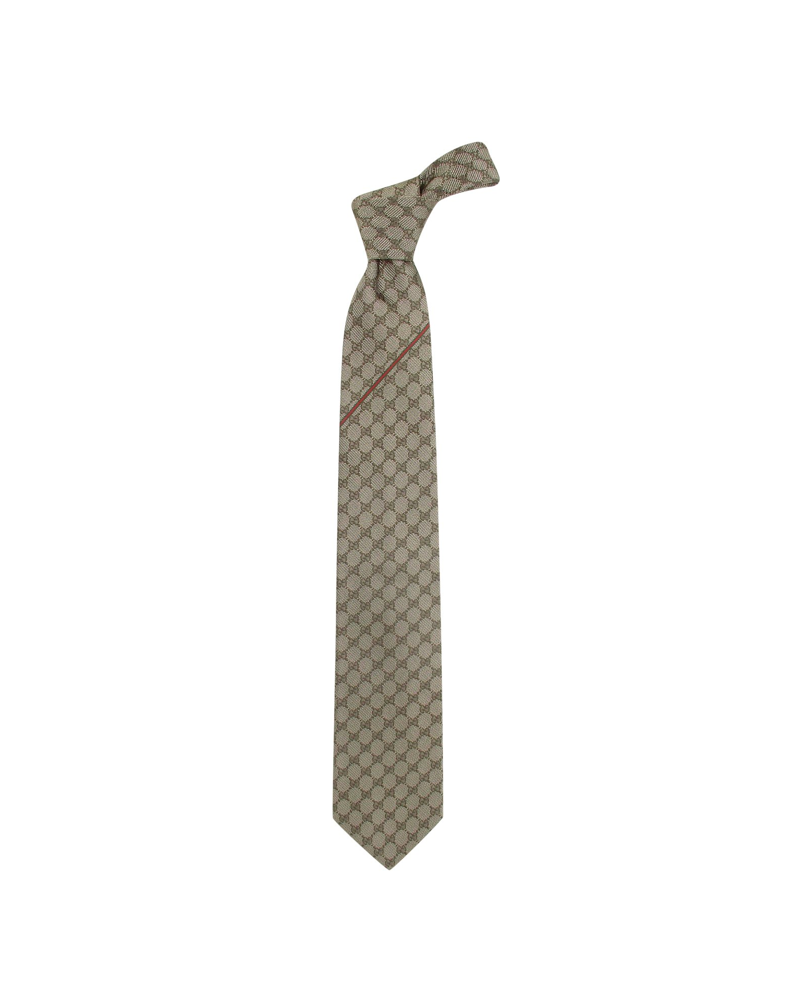 3d785b109a638 Lyst - Gucci Gg Diamond Pattern Silk Tie in Natural for Men