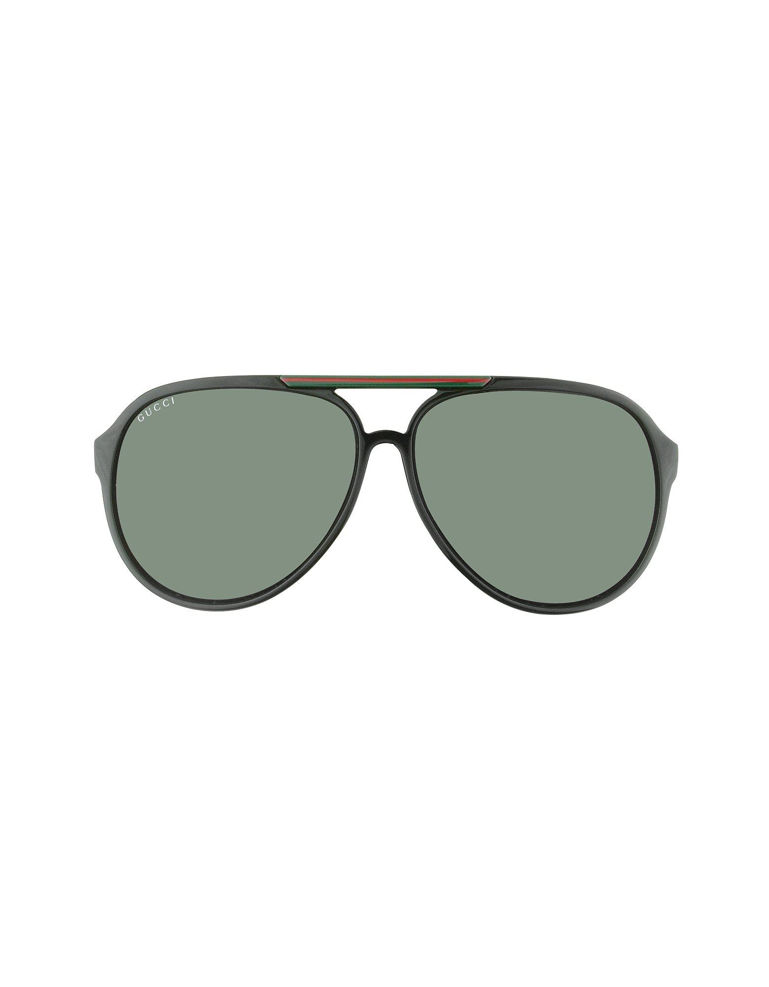 Gucci Logo Aviator Sunglasses In Brown Red Lyst