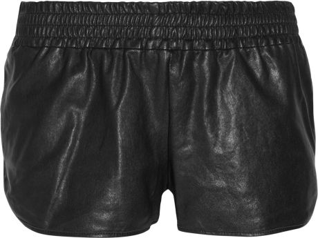 Haute Hippie Leather Shorts in Black - Lyst