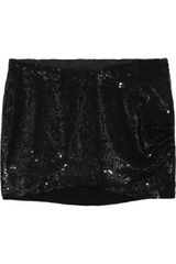 Haute Hippie Sequined Silk-chiffon Mini Skirt - Lyst