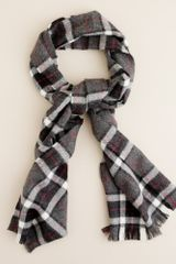 J.Crew Plaid Wool Scarf - Lyst