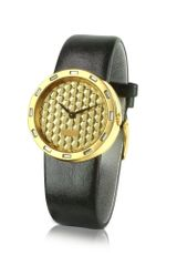 Just Cavalli Jc Glow - Mirrored Dial Stainless Steel and Leather Watch - Lyst
