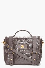 Marc By Marc Jacobs Glossed Leather Messenger Bag - Lyst