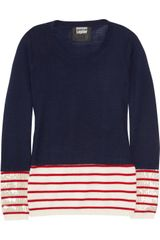 Markus Lupfer Sequined Striped Merino Wool Sweater - Lyst