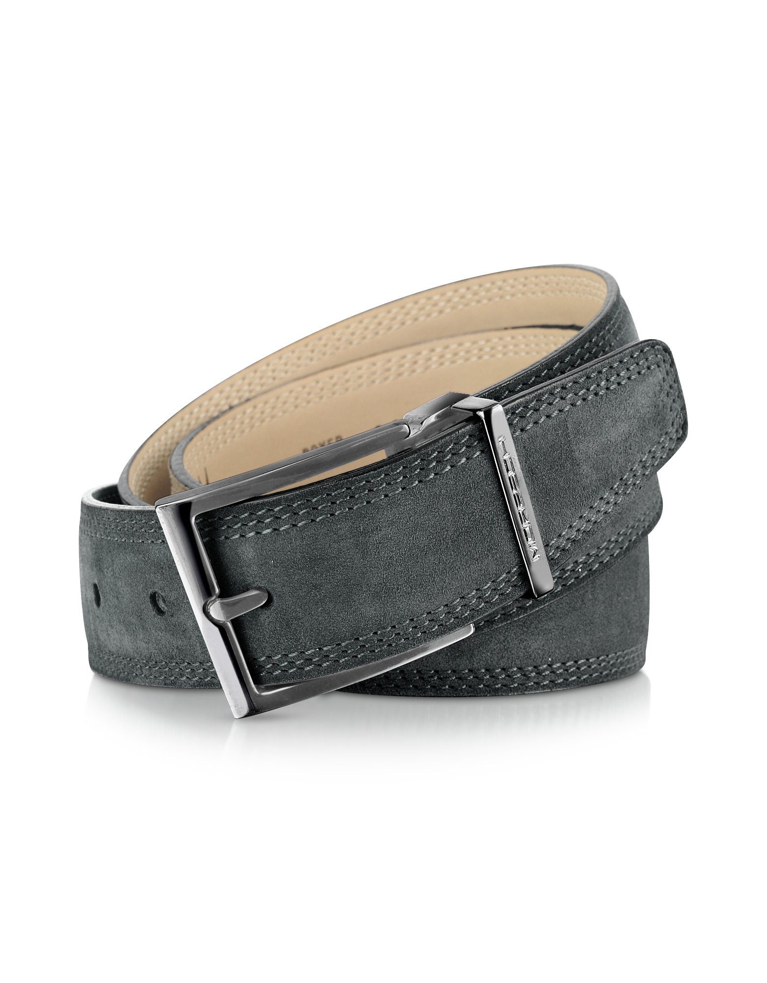 moreschi stiria gray leather belt in gray for