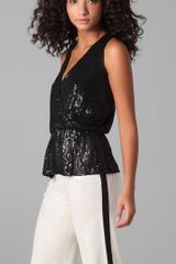 Parker Sequined Wrap Top