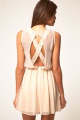 ASOS Collection Asos Skater Dress with Lace Cross Back - Lyst