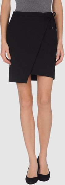 Balenciaga Knee Length Skirt in Black - Lyst