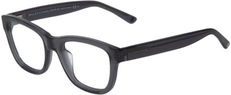 Balenciaga Rectangular Glasses in Gray (grey) - Lyst