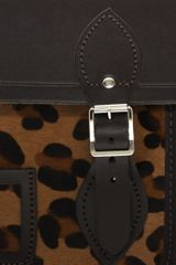 Cambridge Satchel Company  Leopard Pony Skin Pocket Satchel in Brown - Lyst