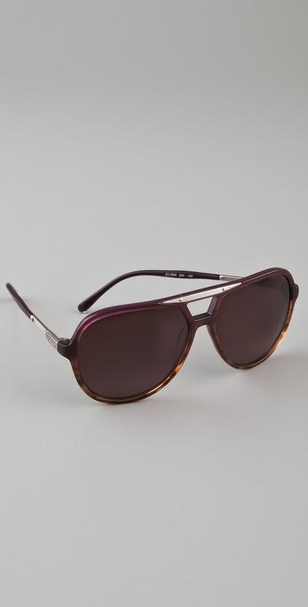 Chlo 233 Adonis Aviator Sunglasses In Purple Lyst