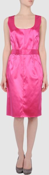 Dolce & Gabbana Short Dress in Pink (fuchsia) - Lyst