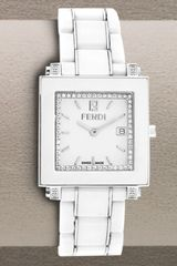 Fendi Ceramic Quadro Watch, Large White - Lyst