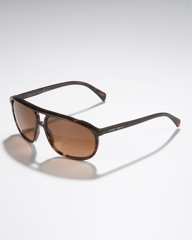 c056ed92d7ca Lyst - Giorgio Armani Round Plastic Aviator Sunglasses
