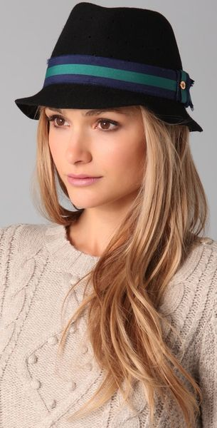 Juicy Couture Perforated Fedora in Black - Lyst