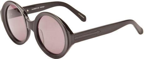 Karen Walker Number Six Sunglasses in Black - Lyst