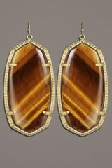 Kendra Scott Danielle Earrings, Tigers Eye - Lyst