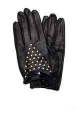 Mango Stud Leather Gloves - Lyst