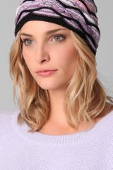 Missoni Black Wave Beanie - Lyst