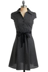 ModCloth Hepcat Dress in Black Licorice - Lyst