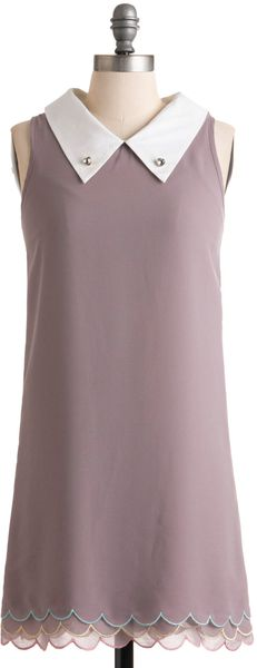 Modcloth Pastel A Story Dress in Purple (lilac) - Lyst