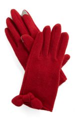 ModCloth In Touch Gloves in Red - Lyst