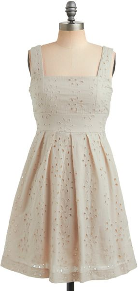 Modcloth One Scoop Dress in Vanilla in White (vanilla)