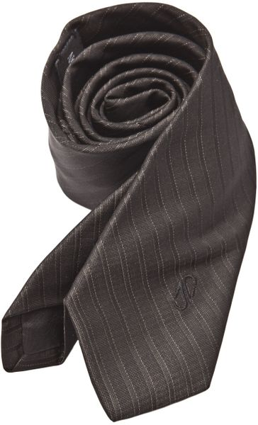 Native Son Striped Tie in Black for Men
