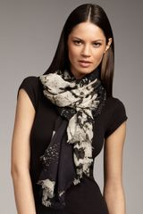Oscar de la Renta Abstract Panel-print Scarf - Lyst