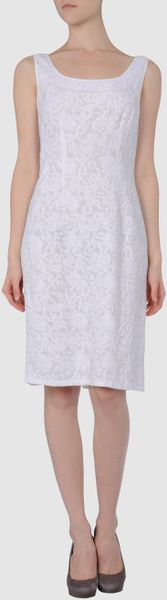 Prada Short Dresses in White - Lyst