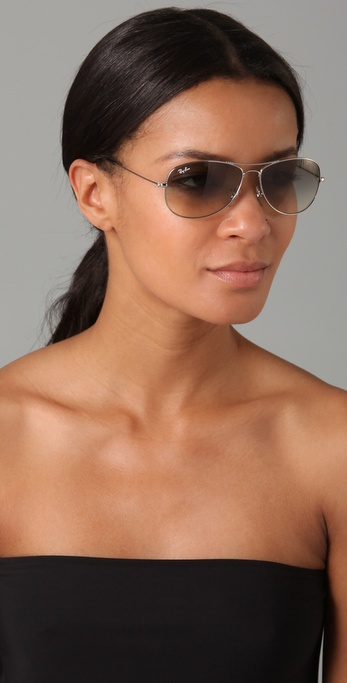 Lyst - Ray-Ban Cockpit Aviator Sunglasses in Metallic c7a37bf2b677