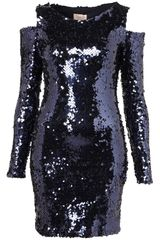 Topshop Cut Out Shoulder Sequin Dress By Dress Up - Lyst