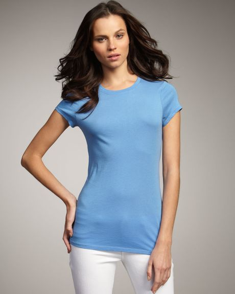 Vince Basic Tee, Cornflower in Blue (cornflower) - Lyst