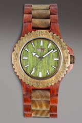 Wewood Watches Wooden, Brown/army - Lyst
