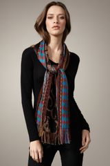 Etro Multi-pattern Embroidered Scarf - Lyst