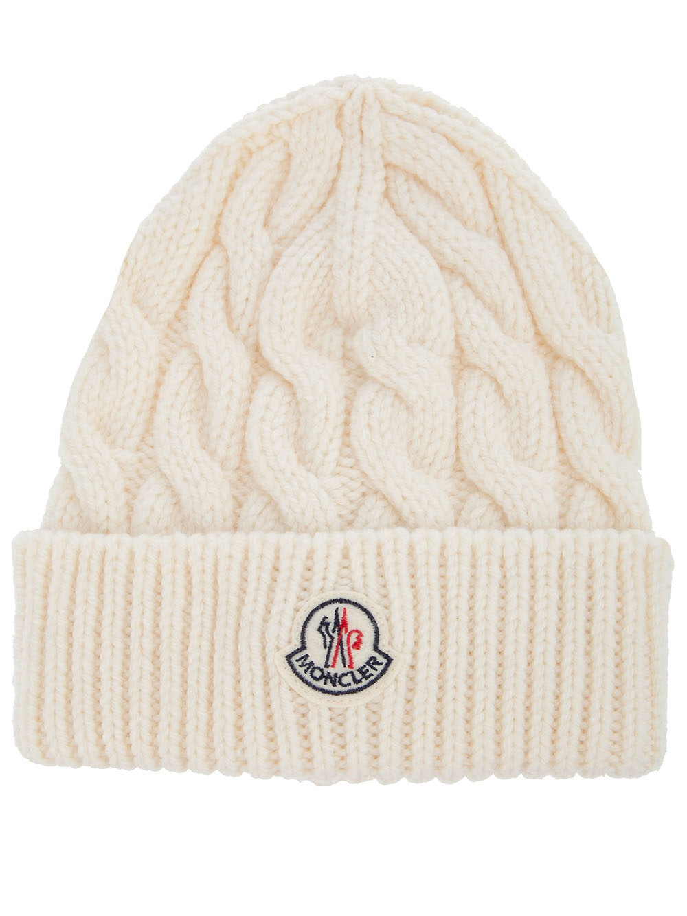 Moncler Cable Knit Hat in Natural for Men - Lyst ffca6ae29a7