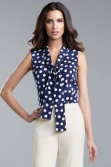 St. John Collection Polka-dot Blouse - Lyst