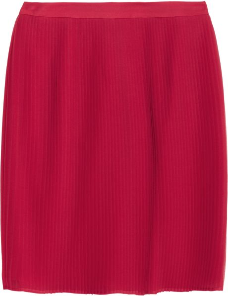 Alice + Olivia Caitlin Pleated Silk-chiffon Mini Skirt in Purple (fuchsia)