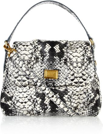 Marc By Marc Jacobs Lil Ulkita Faux Python Shoulder Bag - Lyst