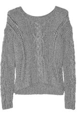 Vince Cable-knit Cotton-blend Sweater - Lyst
