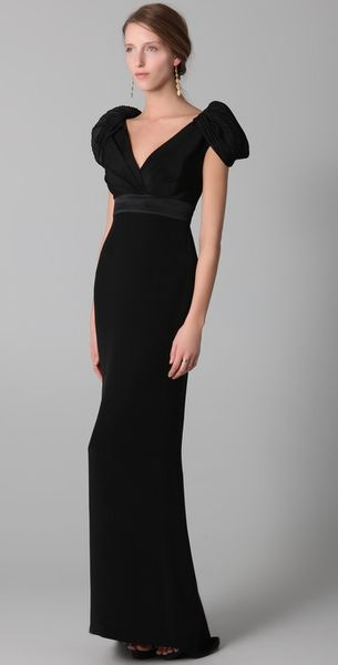 Notte By Marchesa V Neck Gown - Lyst
