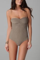 Tori Praver Swimwear Lucy One Piece in Gray (hazel) - Lyst