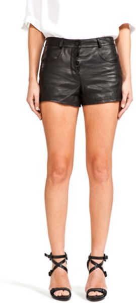 Alexander Wang Leather Short in Black in Black - Lyst
